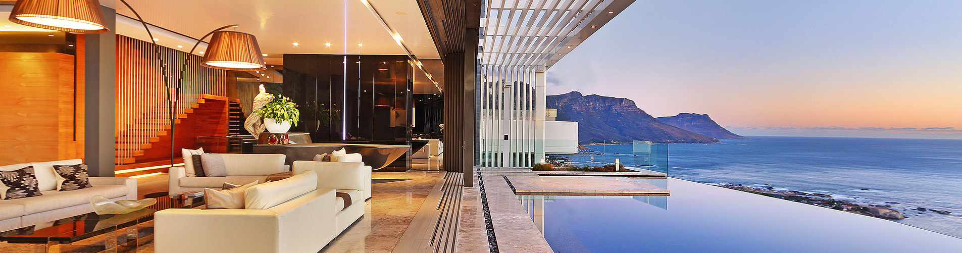 Dusk Real Estate Photography in Cape Town with Ocean Views